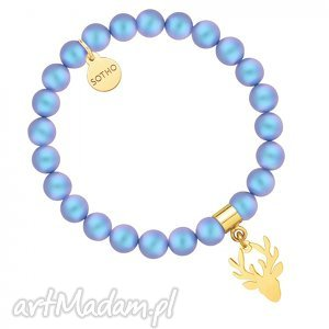 perłowa bransoletka z pereł swarovski® crystal ze złoty
