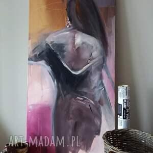 woman 120x60, obraz do salonu, duże obrazy, kobieta obraz, w sztuce