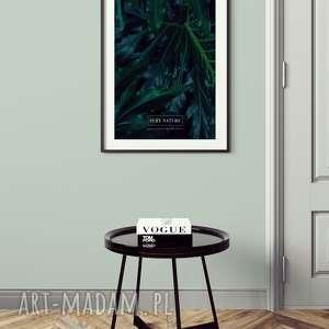 plakaty plakat a3 tropikalny liść, wystrój, wnętrza, salon, sypialnia