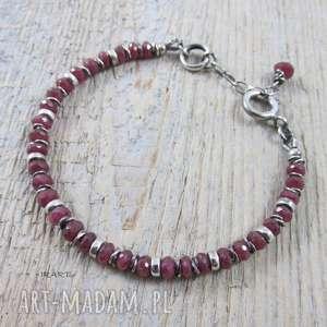 Rubin z Longido Tanzani , rubin, srebro, bransoletka