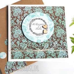 w rocznicę ślubu :: kartka handmade, rocznica