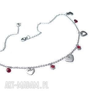 alloys collection -line heart - stal, szlachetna, swarovski, serce