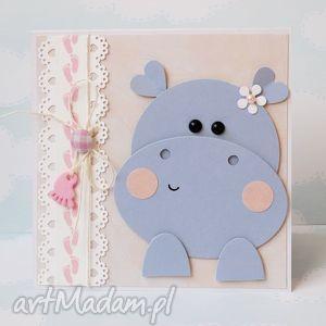 z okazji narodzin córeczki, narodziny, dziecko, córka, hipopotam, gratulacje