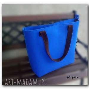 duża, minimalistyczna torebka zapinana na suwak, torba, torby, filc