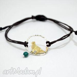 bransoletki bransoletka z kotem, kot, sznurek, srebro, 925, złocone biżuteria
