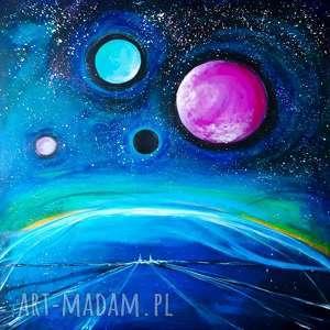 inne krajobrazy obraz akrylowy na płótnie 80x80cm artystki adriany laube - kosmos