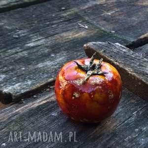 Prezent ceramiczny czerwony pomidor, pomidor-ceramika, dekoracja-kuchnia, prezent