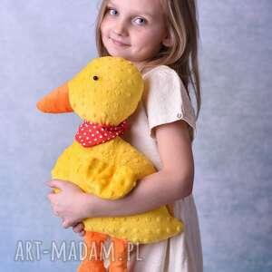przytulanka dziecięca kaczuszka w apaszce - kaczuszka-hand-made, pomysł-na-prezent