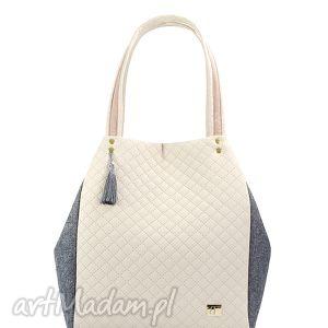 hand made torebki torebka pikowana simple 136