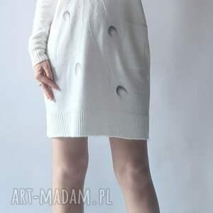 sukienka filcowana bombka, sukienka, długi sweter, z kieszeniami