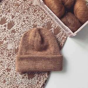 czapka beanie z wełny merino, czapka na drutach, zimowa, dla dzieci