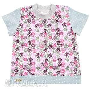 ślimaki kropki, t-shirt dla dziewczynki, bawełniana bluzka na lato, rozmiary
