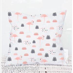 poszewka na poduszkę dziecięca dla dzieci flamingi 3031, poszewka