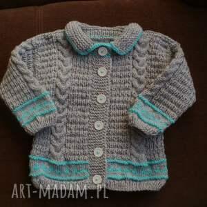 sweterek szary żakiecik, rękodzieło, sweterek, włóczka ubranka