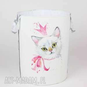 pojemnik z kotkiem - pojemnik, kotek, dziecko, prezent, urodziny, pokój