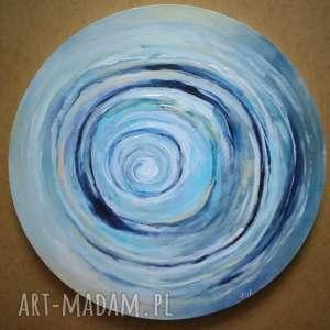 abstrakcja - obraz akrylowy o średnicy 40 cm, obraz, okrągłe, abstrakcja, akryl