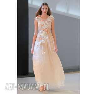 sukienki królowa bajka - ręcznie haftowana suknia ślubna, luksusowa