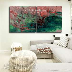 art and texture intensywna abstrakcja - abstrakcyjne obrazy do modnego salonu