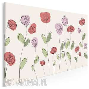 Obraz na płótnie - RÓŻE OGRÓD RÓŻANY 120x80 cm (69101), róża, róże,