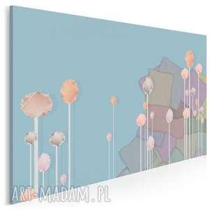 obraz na płótnie - abstrakcja pastele 120x80 cm 63201, pastele
