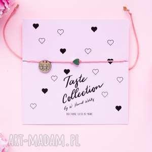 WHW Taste Tiny Rainbow Heart On Coral String, sznureczkowa, sznurkowa, delikatna