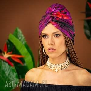 handmade ozdoby do włosów turban - hot tropical