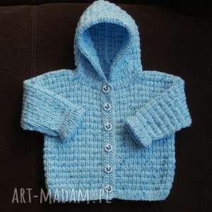"""Sweterek """"niebieski kapturek"""" gaga art sweterek, rękodzieło"""