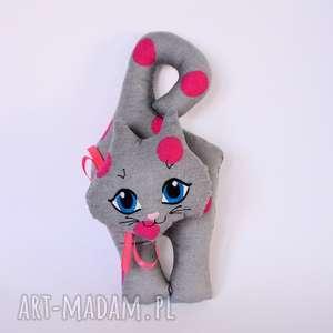 Kot klamkowy Wiki, kot, zawieszka, wiosna, dziewczynka, maskotka, urodziny