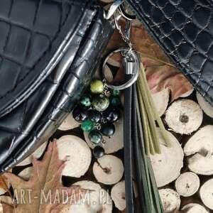 ręcznie robione breloki brelok z kamieniami naturalnymi - rainforest