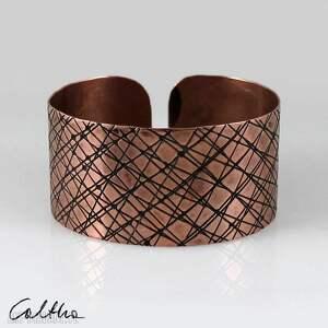 handmade skosy - miedziana bransoletka 150411 -01