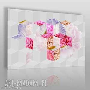 Obraz na płótnie - KWIATY ABSTRAKCJA GEOMETRIA 120x80 cm (33901), kwiaty, orchidee