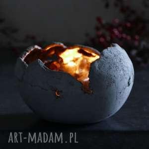 handmade dekoracje lampion ceramiczny z antracytowej gliny nr -2, ręcznie lepiony