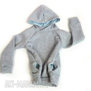 jasnoszara ciepła bluza dziecięca, rozmiary 68-128, bluza