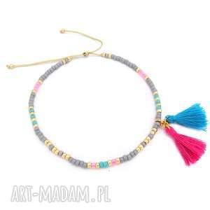 handmade bransoletki bransoletka na kostkę - candy floss