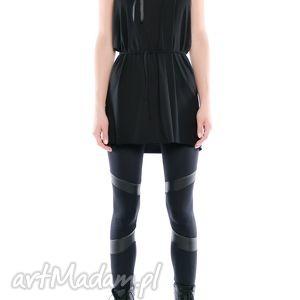 leggisny - futurystyczne tiulowo jerseyowe 2, czarne, elastyczne, wygodne ubrania