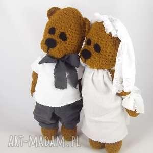 ślubne misie, personalizacja, misie ślubne, para młoda, pamiątka ślubu