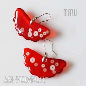 Red Butterfly, motyl, czerwone, red, motyle, duże, kropki
