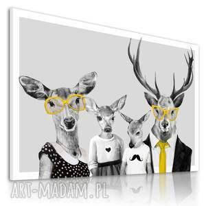 ludesign gallery nowoczesny obraz drukowany na płótnie - 120x80 cm rodzina