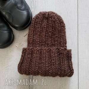 gruba czapka zimowa, zimowa, alpaka, beanie
