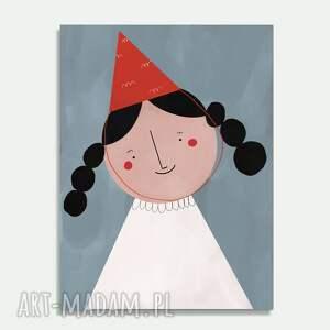 prezent na święta, plakat a3 pajacyk, skandynawski, dziecięcy, dla malucha