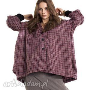 święta prezent, pepitka coat, płaszcze, wełna, pepitka, kaptur, oversize, wiosna