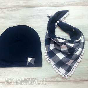bukiet pasji ciepły zimowy komplet czapka i trójkąt, czapka, komin, szalik, zima
