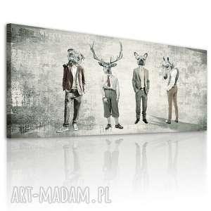 Obraz na płótnie - 150x60cm CHŁOPAKI GANG 02233 wysyłka w 24h, hipstersi, chłopaki