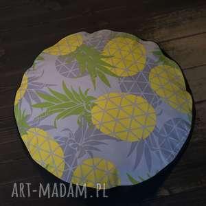 przepiękny pokrowiec w ananasy do wypełnienia samemu - 60cm, ananasy, dom, pufa