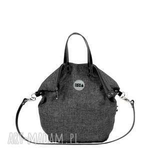 plecak torba 2 in1 city grafit, torba, plecak, podróż, zakupy, manamana, materiał na