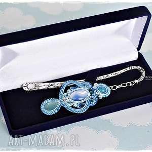 błękitna królowa - unikatowa zakładka sutasz, zakładka, soutache, prezent