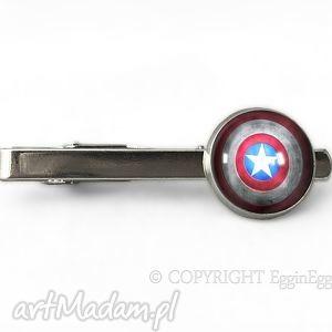 Kapitan - Spinka do krawata, tarcza, kapitan, spinka, superbohater