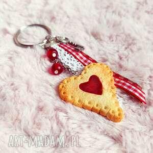 breloczek z ciasteczkiem - serce, ciastko, brelok słodki