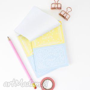 zestaw małych notesów A6, dwa notesy z ciasteczkami, 50 kartek, notes,
