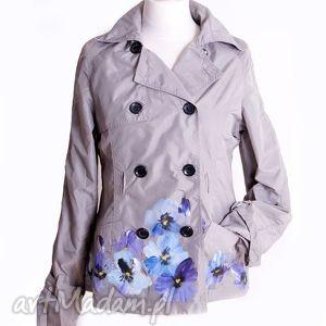 Kurtka wiosenna ręcznie malowana, kurtka, wiosenna, letnia, ręczniemalowana